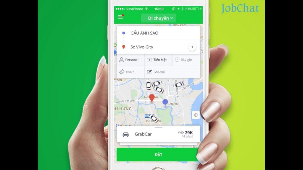 Công nghệ đặt taxi qua app