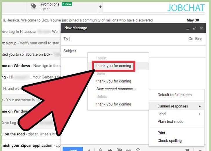 sử dụng tính năng canned responses để quản lý email hiệu quả