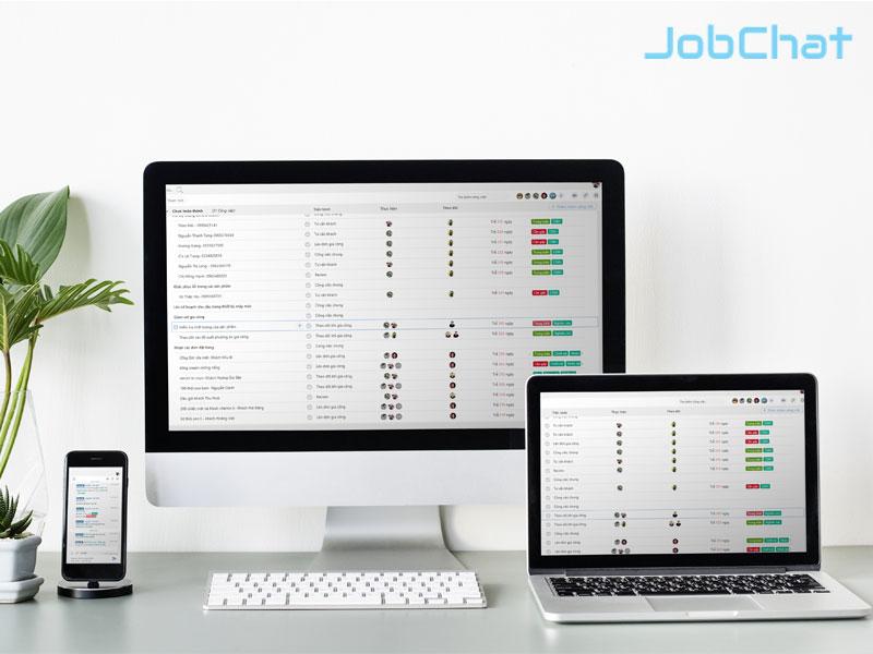 Sử dụng phần mềm quản lý công việc JobChat