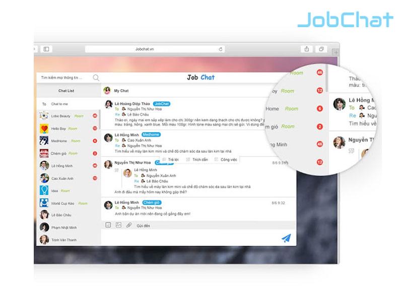 Phần mềm JobChat – Quản lý công việc