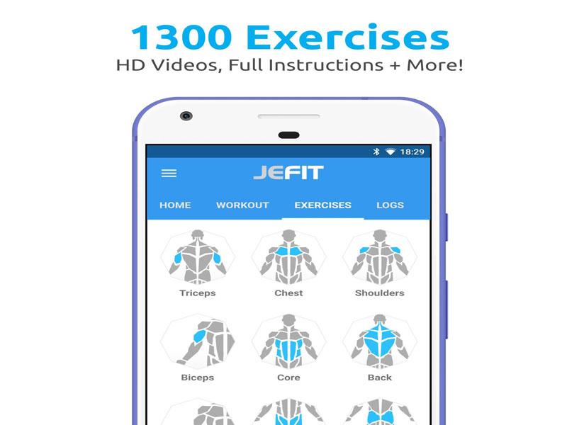 JEFIT ứng dụng tập Gym