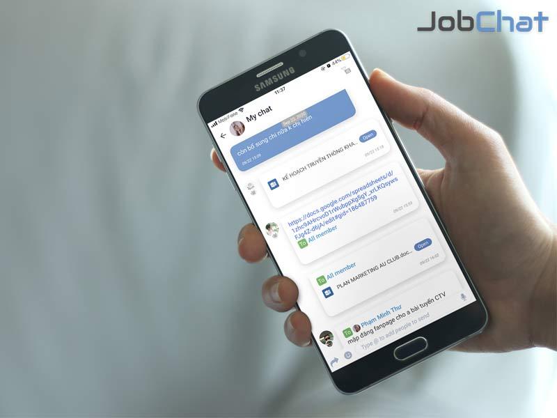 Hiệu quả ứng dụng quản lý công việc đào tạo Jobchat