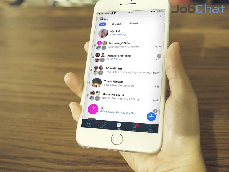 Jobchat cung cấp ứng dụng quản lý tốt việc nghiên cứu