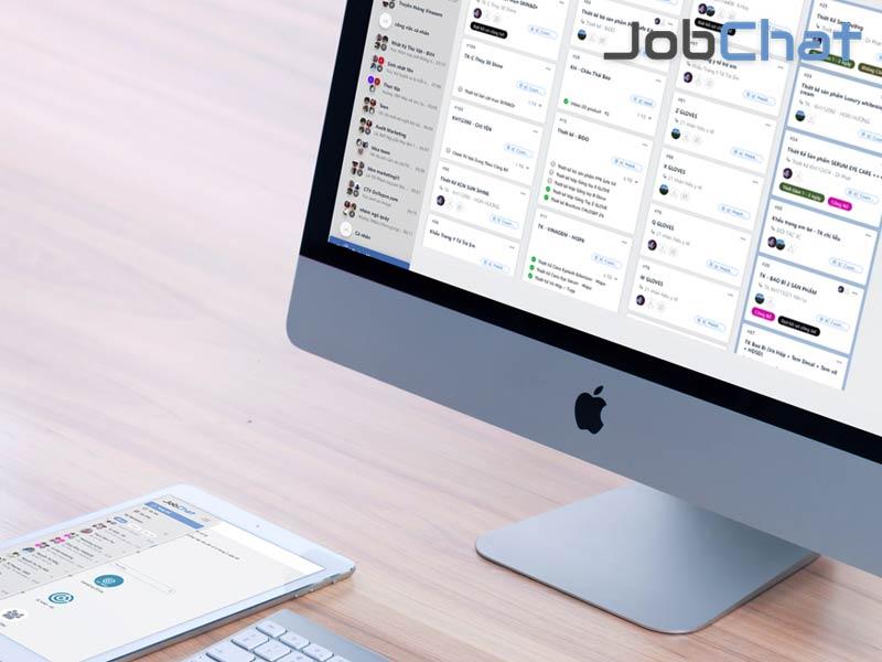 Jobchat phần mềm quản lý công việc tư vấn